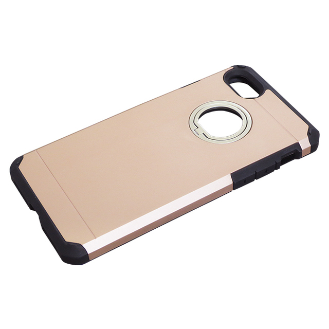 iPhone8Plus/7Plus用ジャケット リング付き ハイブリッド耐衝撃